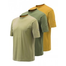 Beretta T Shirt grün, orange, beige 3er Pack